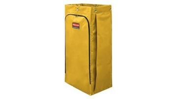 Picture of Jan Clean Cart Vinyl Bag Yellow 34 Gallon