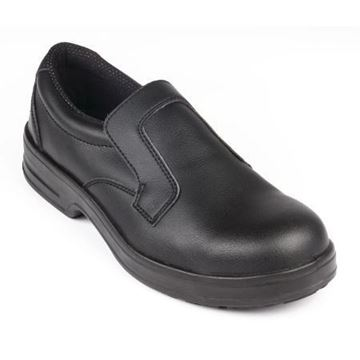Picture of Lites Safety Slip On Black 38