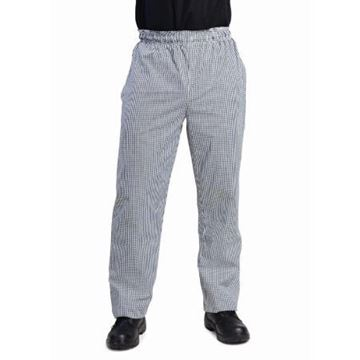 Picture of Whites Unisex Vegas Chefs Trousers Black and White Check L