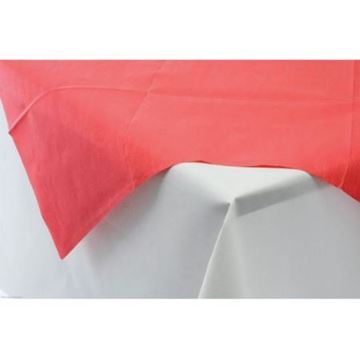 Picture of Table Slip Cover Paper 90cm Sq red 10x25