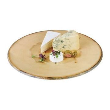 Picture of APS Timber Round Melamine Platter 350mm