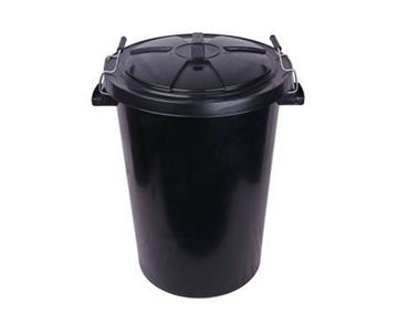 Picture of 90ltr Black Dustbin & Clip Lid
