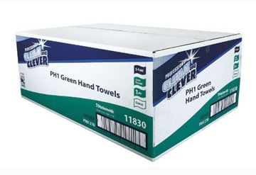 Picture of Clean and Clever S-Fold Green H/Towel x3600 PH1 11830